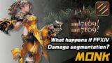 What happens if FFXIV Damage segmentation?【MONK/武僧】当FF14伤害动画分段显示会怎么样?